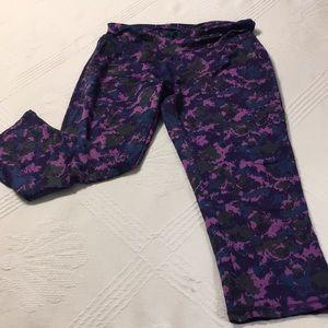 RBX Purple Graffiti Splash Capri Pants